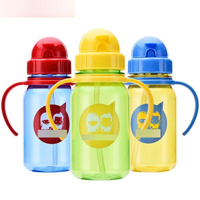(350ml)宝宝水杯儿童吸管杯带手柄水杯幼儿喝水饮水杯
