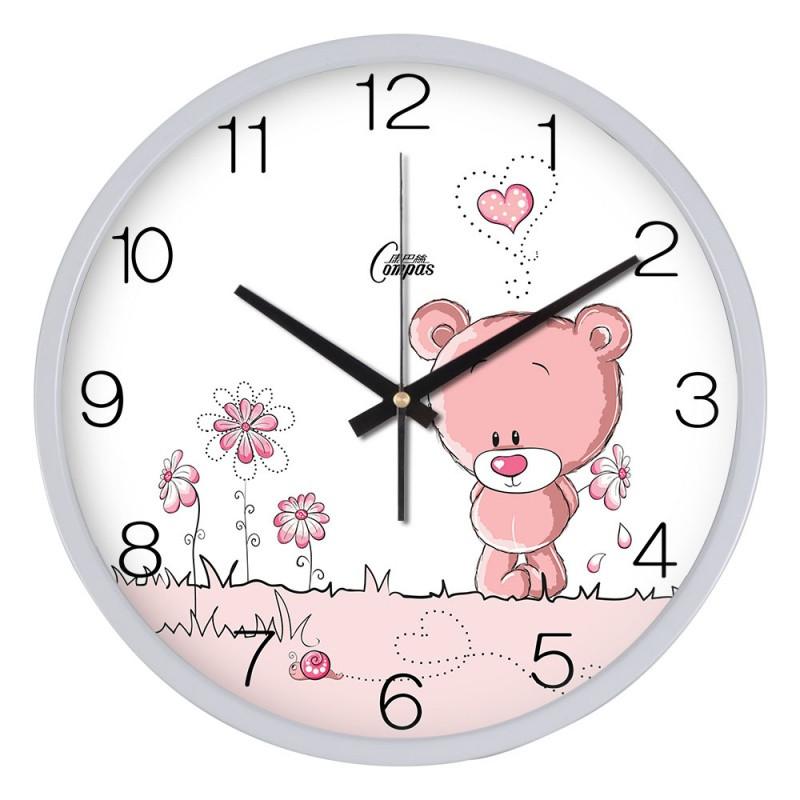 钟表挂钟客厅欧式时尚创意可爱小熊卡通卧室田园石英钟