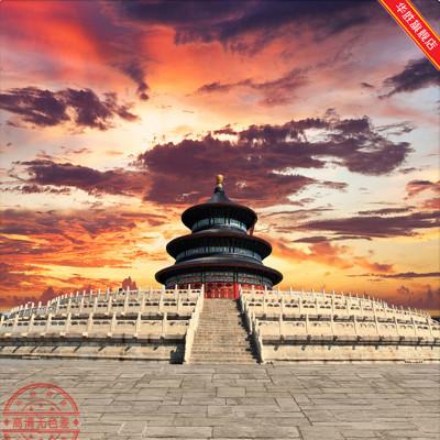 全家福儿童摄影背景布中国风影楼照相馆拍照pp纸春节过年红色