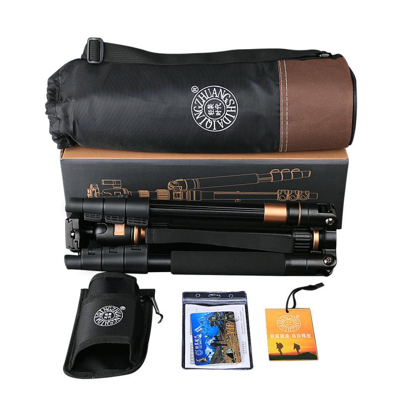 q555照相机三脚架单反便携手机三角架支架摄影独脚架云台