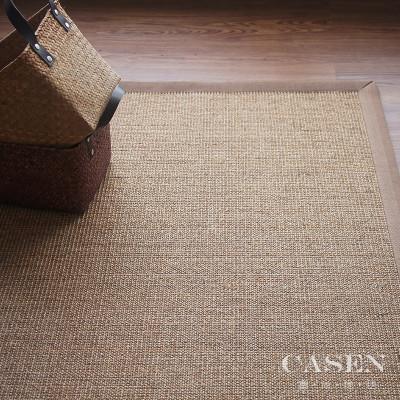 塞尚草编剑麻地毯现代简约客厅茶几书房餐桌茶桌茶室禅意地垫定制图片