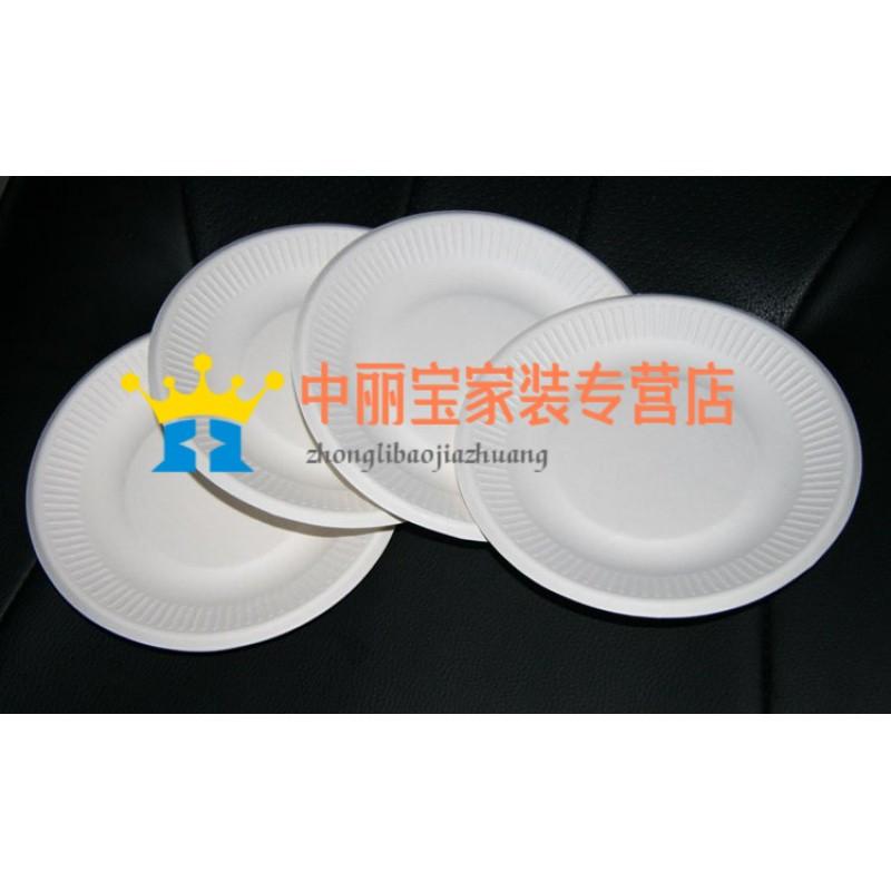 一次性纸盘子 蛋糕盘水果盘手工绘画 画画纸盘白色纸盘烧烤盘