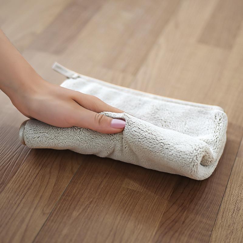 双层加厚擦地板清洁布抹布吸水不掉毛平板拖把替换布百洁布