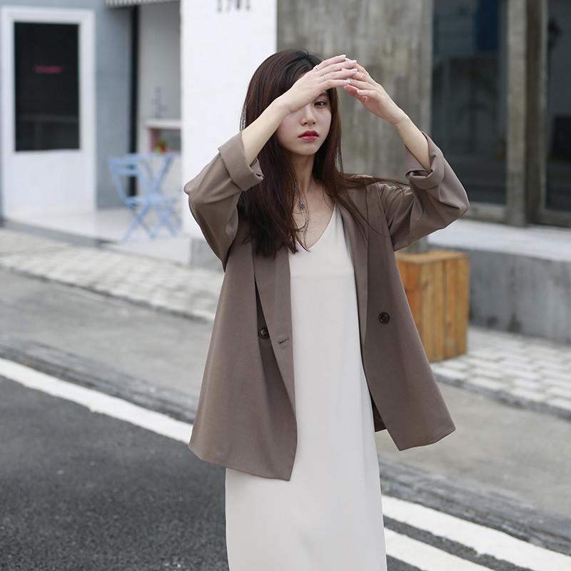 18款式夕蒙 自制长袖chic西装外套 高腰休闲短裤 秋季图片