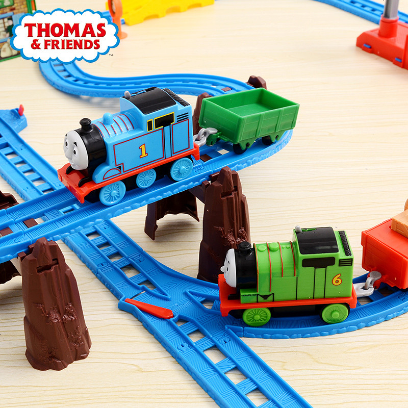 托马斯电动小火车轨道玩具多多岛百变套装 儿童早教益智玩具