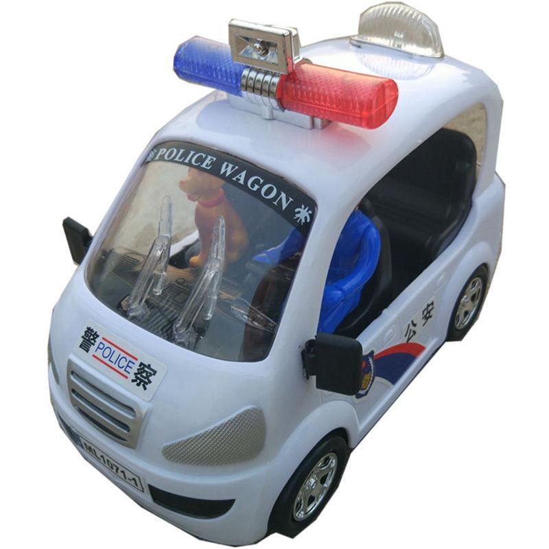 警车玩具男婴宝宝儿童电动汽车带音乐万向轮会跑警车礼物电动玩具