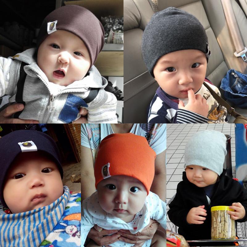 纯棉可爱1-2-6岁保暖男宝宝婴儿帽子女童套头帽婴童男宝潮流