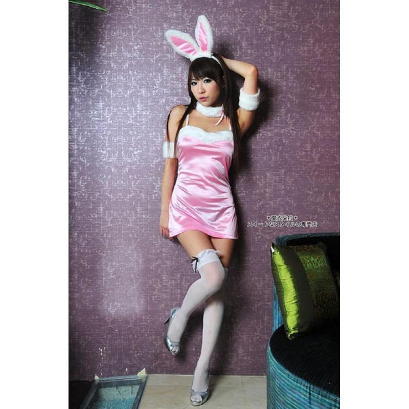扰角色扮演女孩_粉色兔女孩 情趣内衣 游戏制服 角色扮演 ol职业装夫妻调情内衣