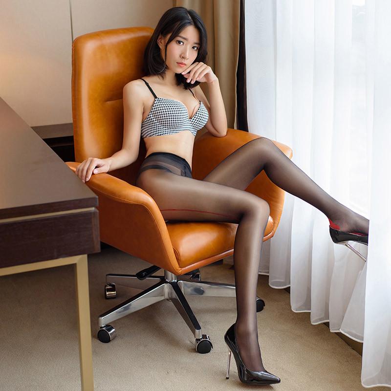 丝袜自摸_性感超薄开裆免脱连裤袜透明丝袜情趣内衣开档式透视火辣自慰透明