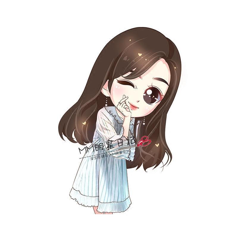 李圣经 蓝白条纹v领荷叶边喇叭袖宽松雪纺百褶短裙连衣裙