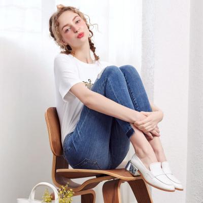 【99元任選3件】美特斯·邦威ins小腳牛仔褲女夏裝新款鉛筆褲打底褲韓版褲子