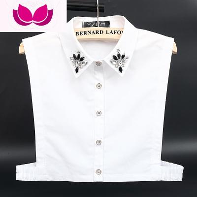 韩国水钻装饰领假领子女士百搭假领衬衫领子衬衣领春秋夏季假衣领