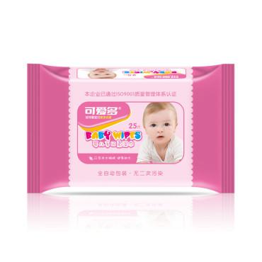 【苏宁自营】可爱多婴儿手口绵柔湿巾25片便携装 宝宝亲肤湿纸巾