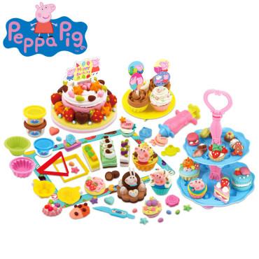 小猪佩奇彩泥玩具 佩奇工具组 粘土彩泥橡皮泥套装 儿童diy手工食玩