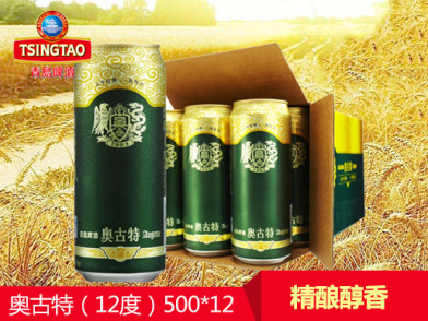 青岛啤酒 奥古特(12度)500ml*12罐