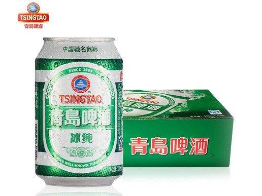 青岛啤酒10度冰纯330ml*24听/箱