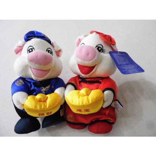 哈一代招财进宝猪 情侣猪 运动猪