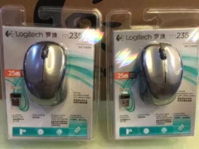 二手罗技无线鼠标m235