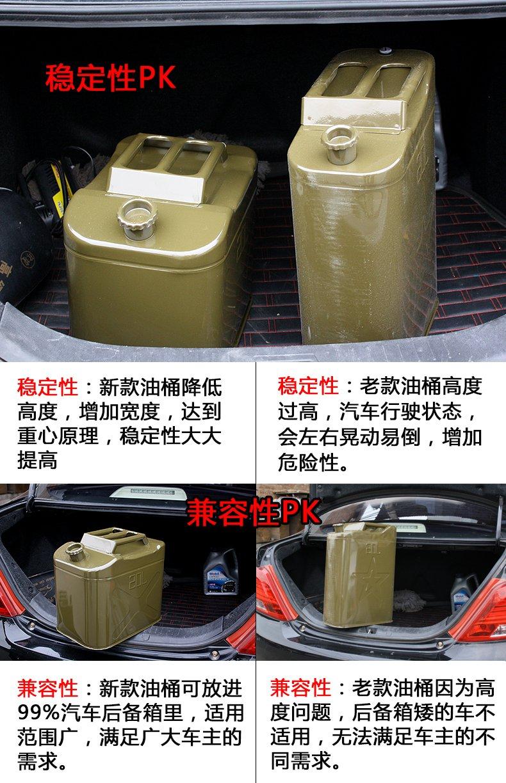 二手便携式加油桶20升汽车备用油箱摩托柴油壶汽油桶