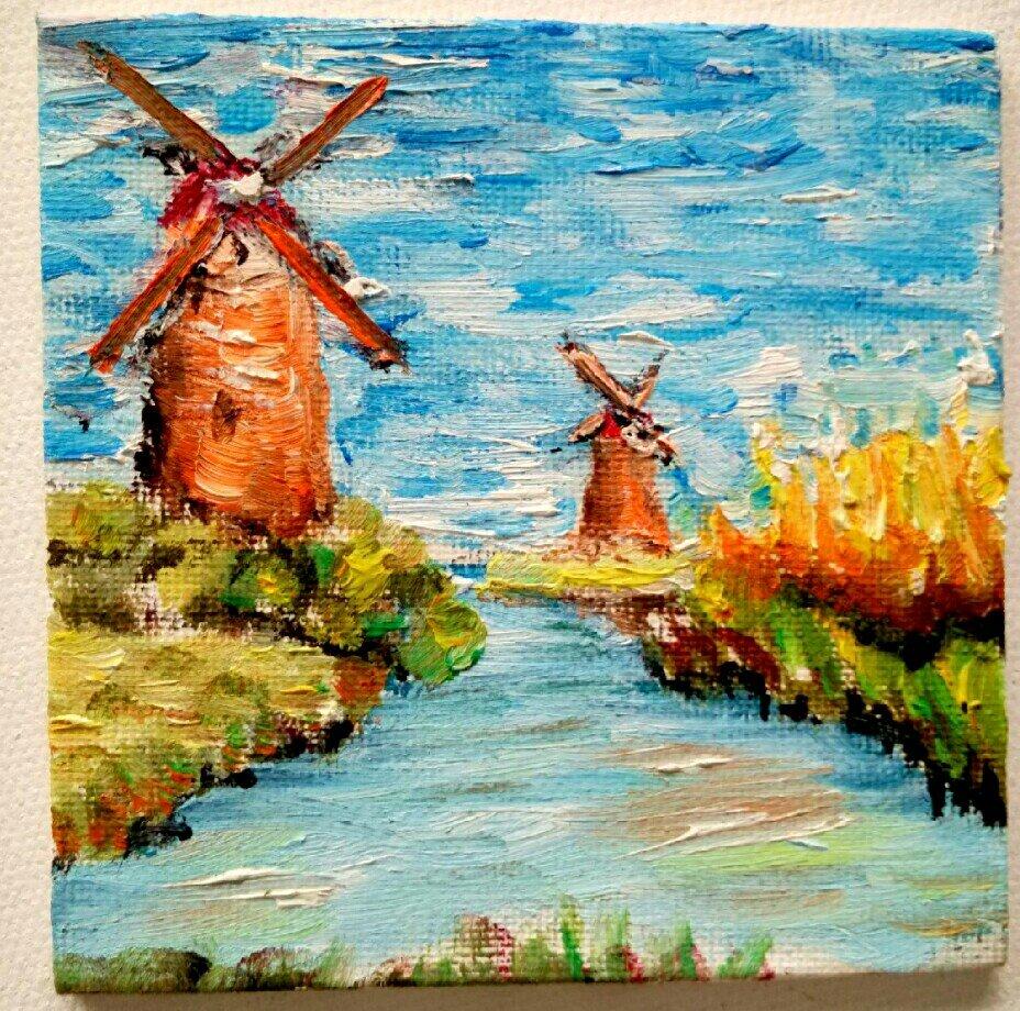 漂亮风景油画图片|油画风景图片大全|油画写实风景|初学油画临摹图片