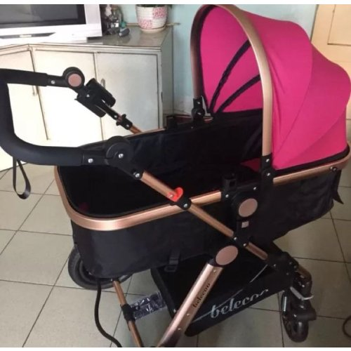 belecoo贝丽可婴儿推车夏季可座躺轻便折叠减震高景观宝宝婴儿车 玫瑰
