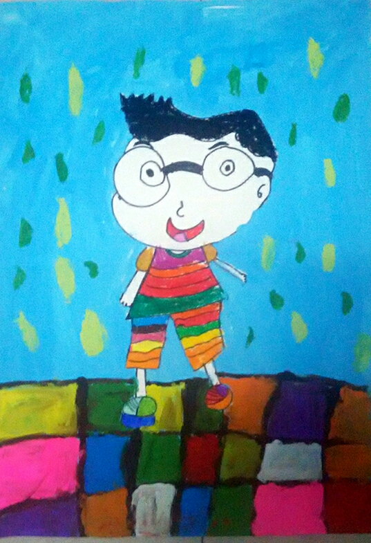 儿童水粉画