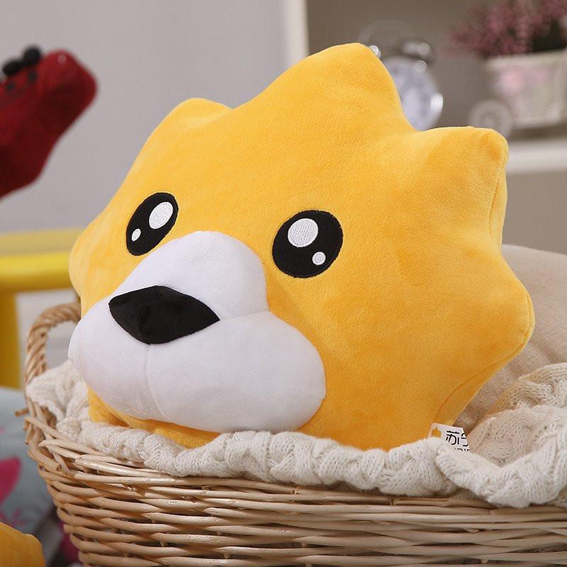 【购自苏宁】凯诗风尚 苏宁形象小狮子抱枕 儿童玩偶 可怜表情 40*40