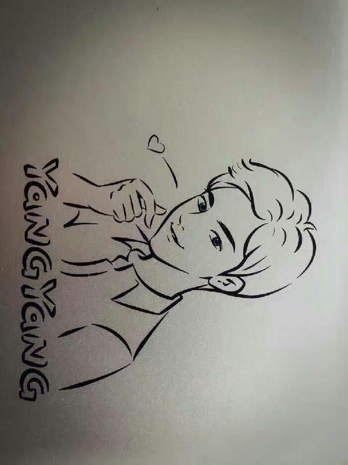 可爱杨洋简笔画