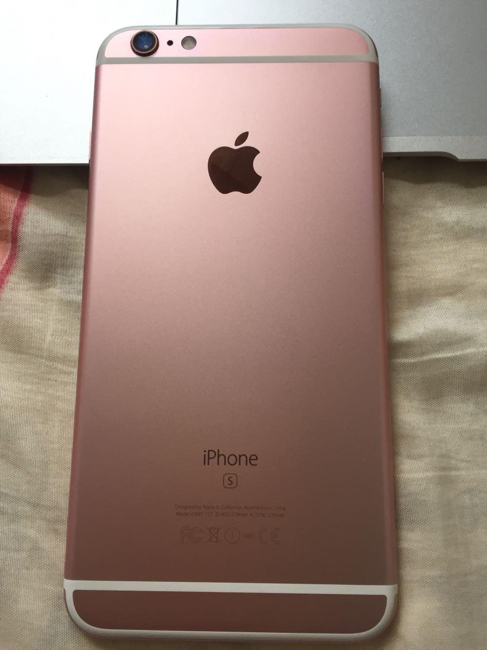 苹果6splus玫瑰金成色99新
