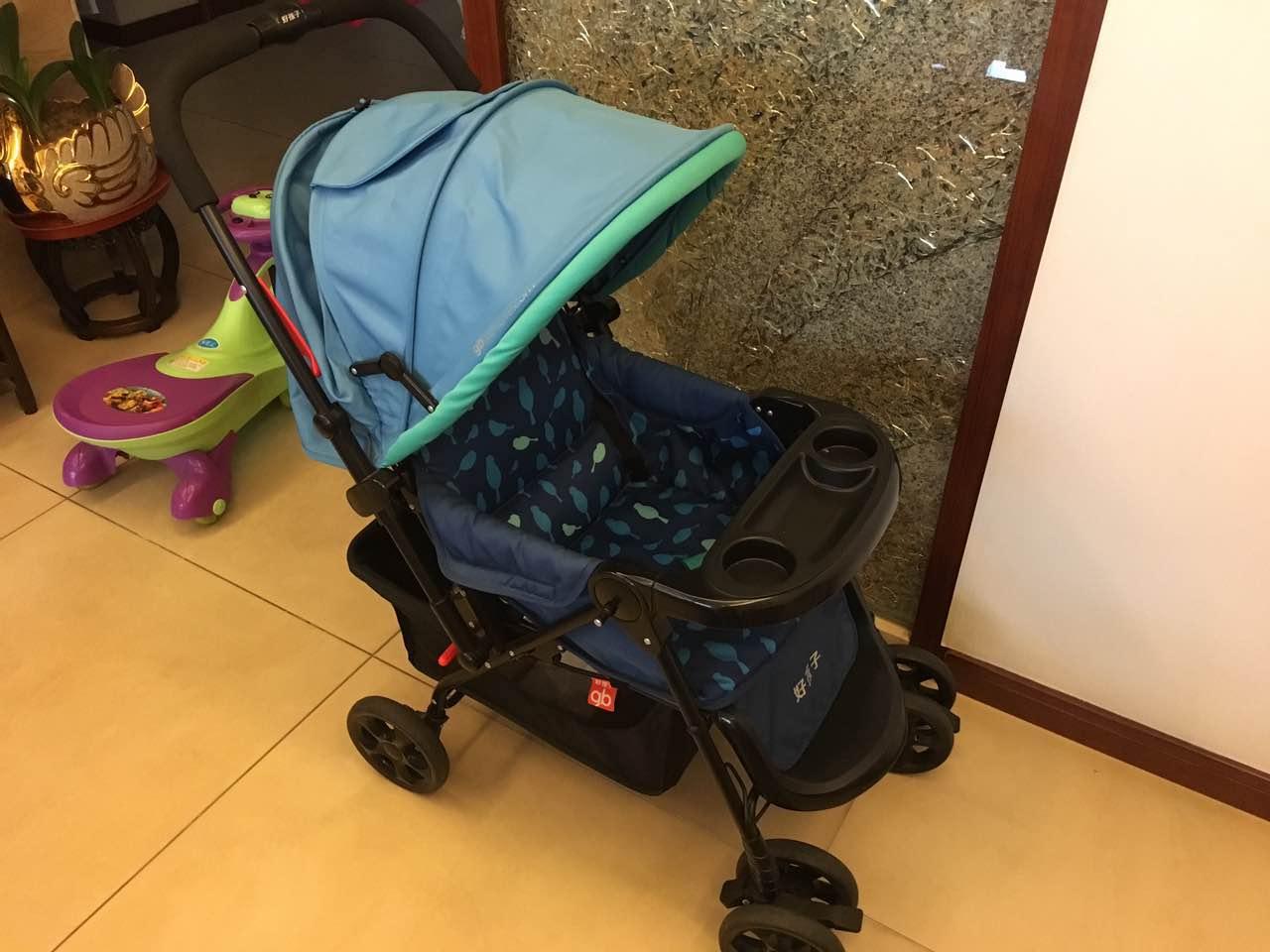 【购自苏宁】好孩子婴儿车 可折叠四轮避震宝宝手推车 c309-h 蓝色