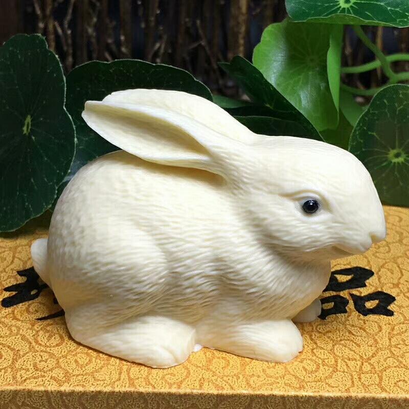 玉兔粘土步骤图