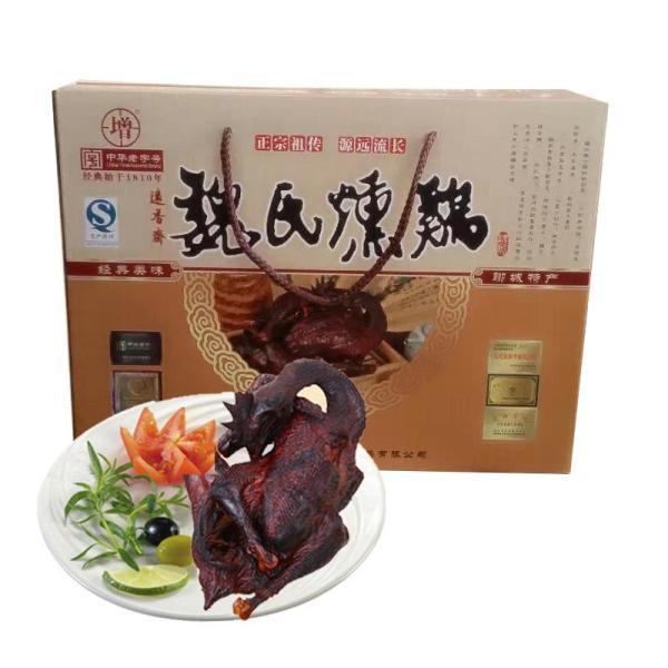 【增田】增田 新款盒装 2只 魏氏熏鸡 山东聊城