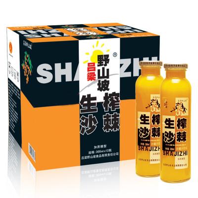 苏宁超市自营吕梁野山坡 生榨沙棘汁 果蔬汁饮料 300ml*12瓶 整箱装