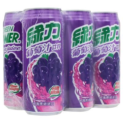 绿力葡萄汁480ml*6瓶/整箱装 原装进口 饮用水 饮料