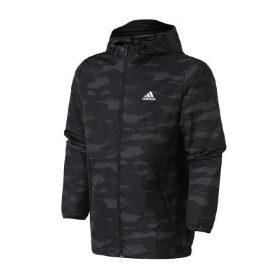 adidas男服外套夹克迷彩梭织休闲运动服DW4652 L DW4652黑色