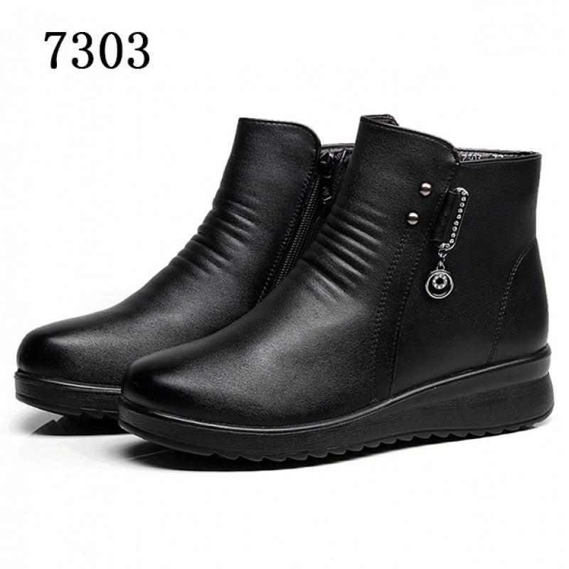 新款肯德基工作鞋女士黑色皮鞋平底上班鞋女鞋