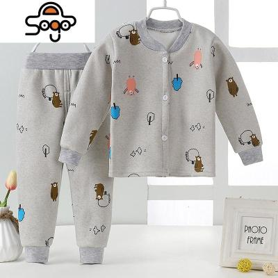 童装婴幼儿宝宝内衣套装秋冬季睡衣儿童保暖衣加绒男童女童秋衣裤